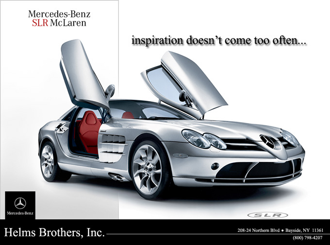 Pierre smythe display advertisements for Mercedes benz helms